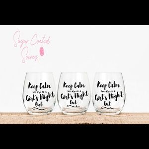 Bachelorette Party Girls Night Out Custom Glass